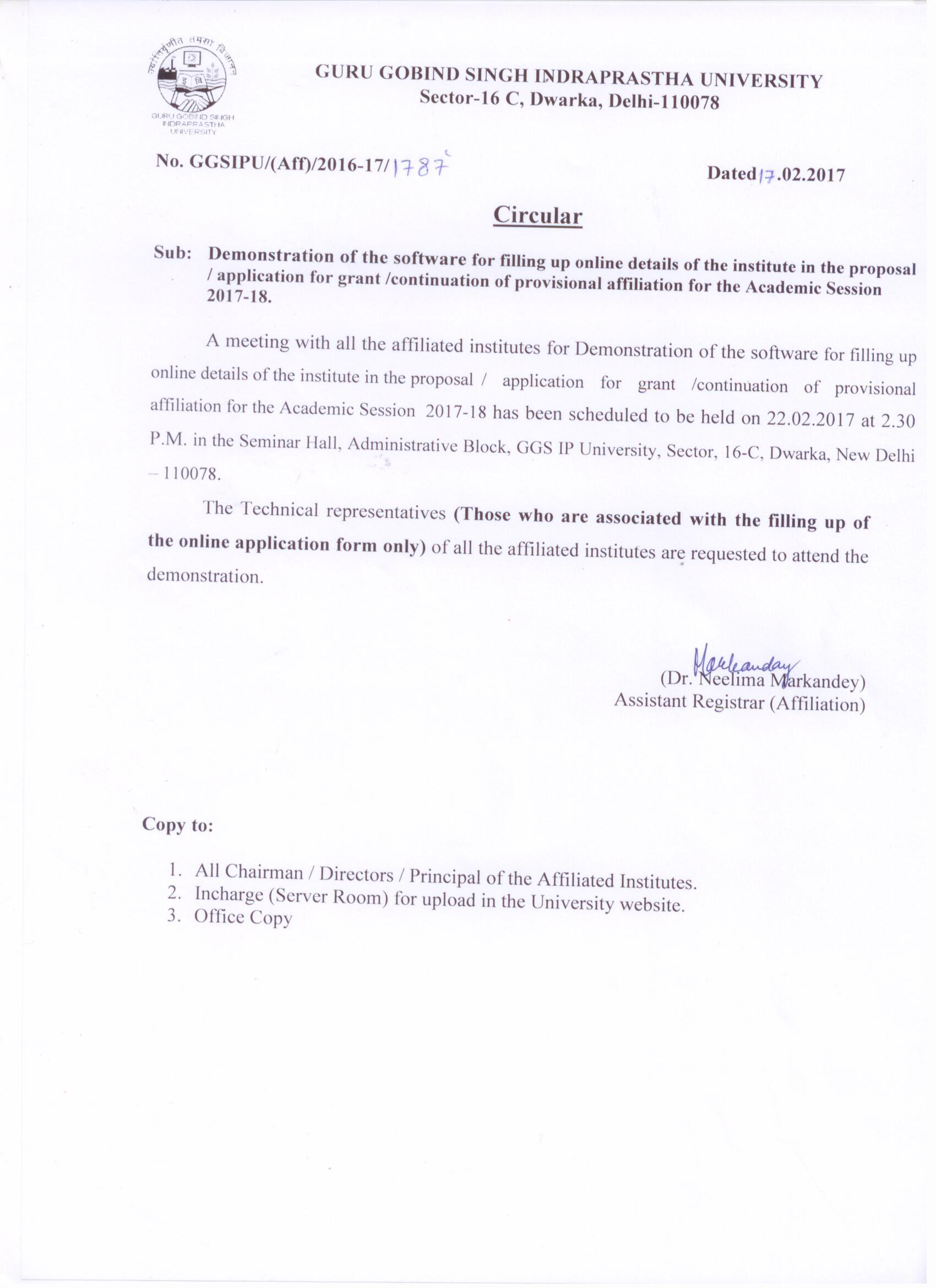 Application Letter Format for University Admission